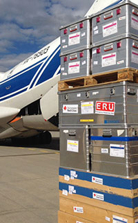 Humanitarian aid delivery. Flights to challenging regions