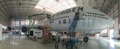 Volga-Dnepr Gulf has successfully released the unique customized aircraft for IRON MAIDEN rock-band