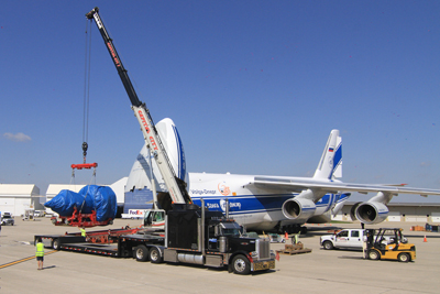 GE entrusts delivery of the world's largest jet engine to Volga-Dnepr Airlines