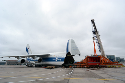 Volga-Dnepr delivers 85-ton runner for Magadan's new hydroelectric power station