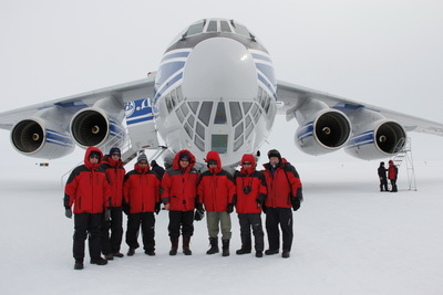 Volga-Dnepr's IL-76TD-90VD aircraft 'parachutes' cargo to remote Antarctic airfield