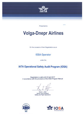 IATA Renews Volga-Dnepr Airlines' Operational Safety Certificate for Fifth Consecutive Time