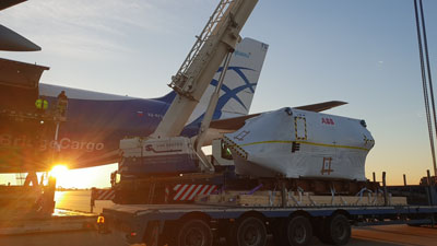 AirBridgeCargo Airlines' loading scheme economizes on time and effort for Greencarrier Freight Services motor shipment