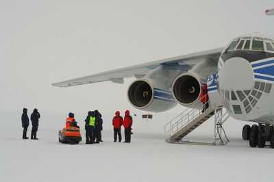 Volga-Dnepr IL-76td-90vd Completes First Landing on Ice Airfield in Antarctica