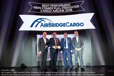 Budapest Airport honours AirBridgeCargo Airlines for its significant contribution to growth